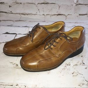 Johnston & Murphy Shuler Bicycle Toe Leather Shoes